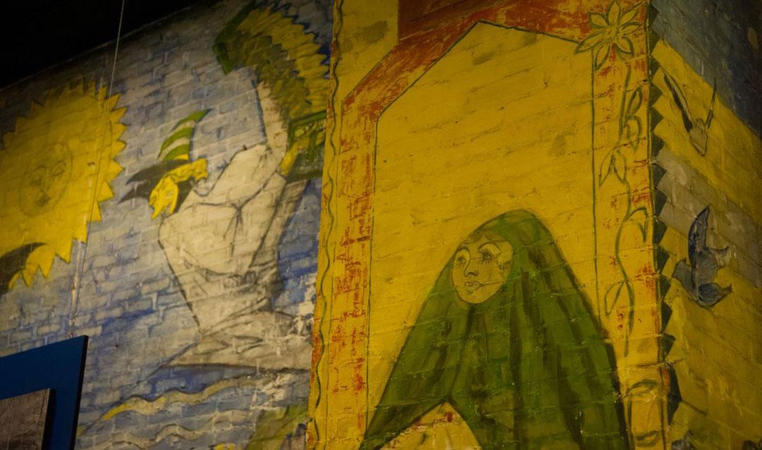 Halloween Room mural in Biltmore House