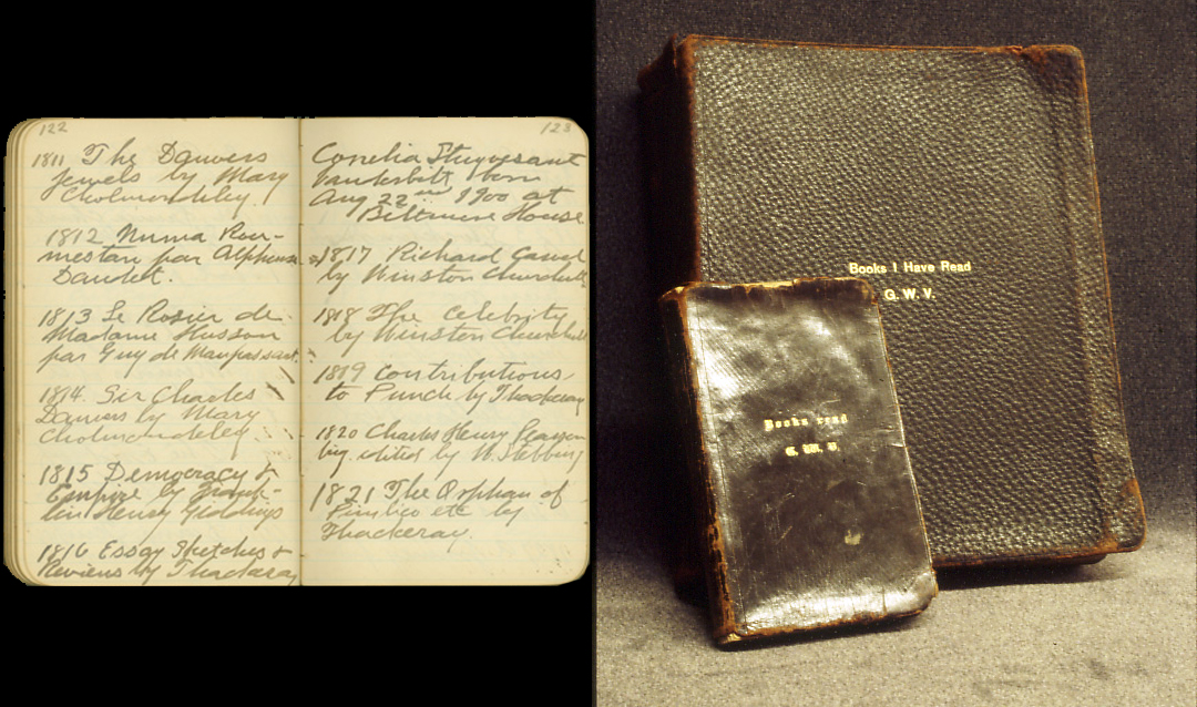 "Two journals from George Vanderbilt's ""Books I Have Read"" series"