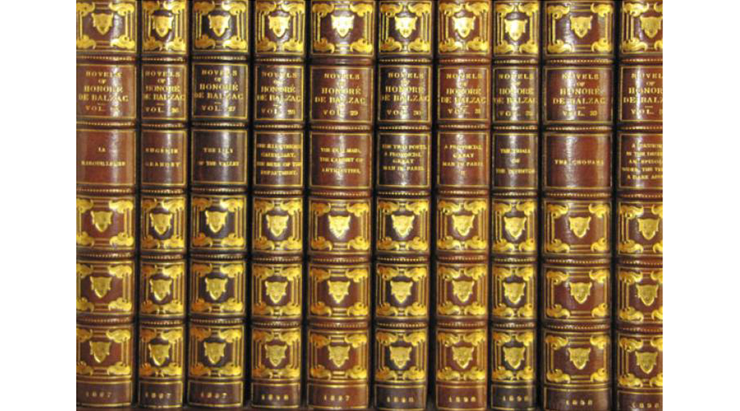 George Vanderbilt's library collection of Balzac titles