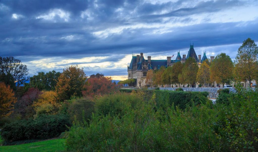 Biltmore House & Gardens in fall