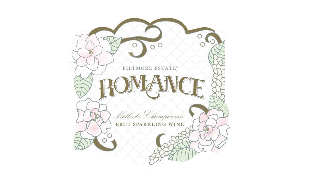 Biltmore Estate Romance Brut Sparkling wine label