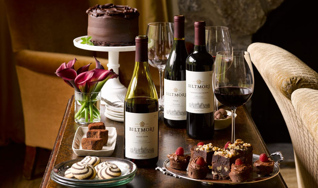 Biltmore Wines with chocolate desserts